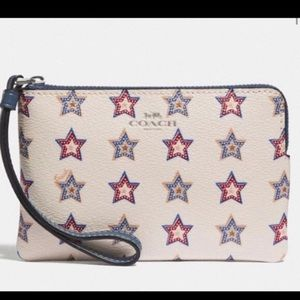 NWOT Coach RARE Fourth of July Wristlet!!